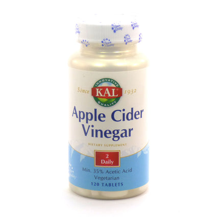 Apple Cider Vinegar 500 mg By KAL - 120  Tablets