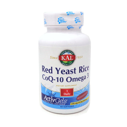 Kal Red Yeast Rice CoQ10 Omega 3 Softgel - 60ct