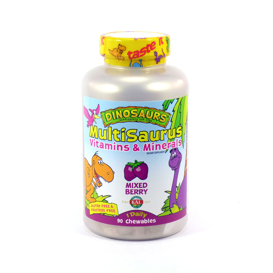 MultiSaurus Mixed Berry Childrens Multivitamins By KAL - 90  Chewables