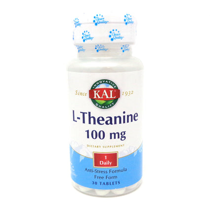 L-Theanine 100 mg By KAL - 30  Tablets