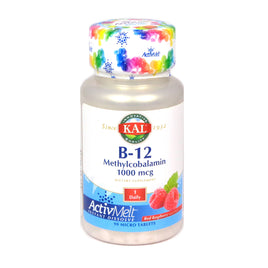 B-12 1000 MCG  by Kal - 90 Tablets