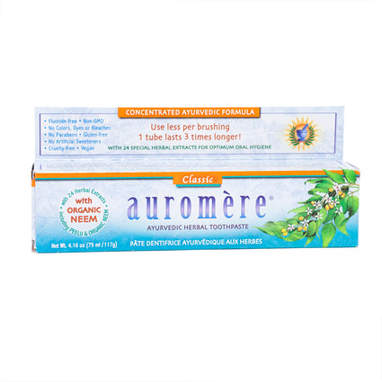 Auromere Ayurvedic Herbal Toothpaste Classic - 4 Ounces