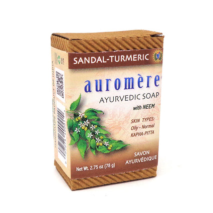 Auromere Ayurvedic Soap with Neem - 2.75 Ounces