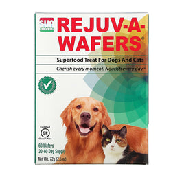 Sun Chlorella Rejuv-A-Wafers Superfood Treat for Dogs and Cats - 60 Wafers