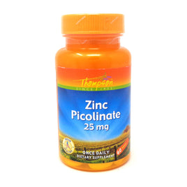 Zinc Picolinate 25mg 25 mg By Thompson - 60  Tablets