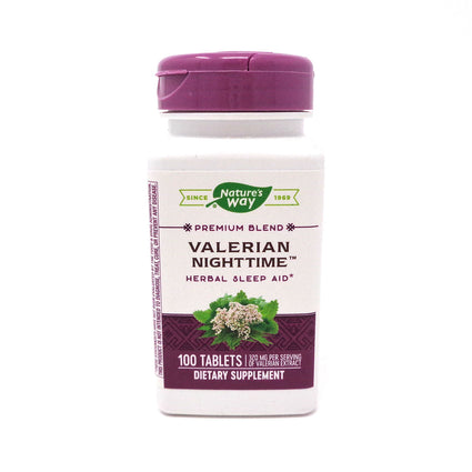 Valerian Nighttime by Nature's Way 100 Tablets
