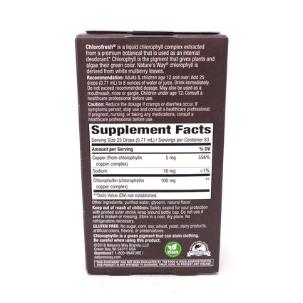Chlorofresh Chlorophyll Drops Mint by Natures Way - 2 Fluid Ounces