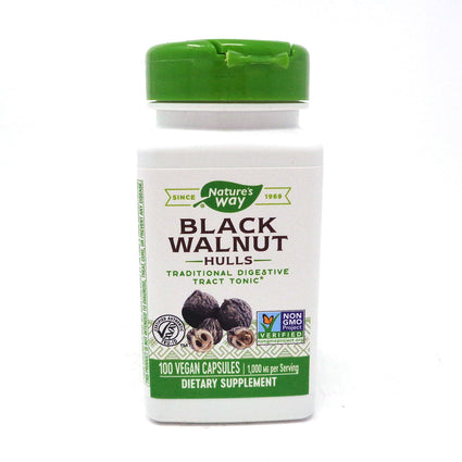 Black Walnut Hulls 500 mg by Nature's Way 100 Capsules
