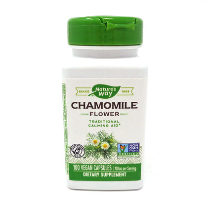 Chamomile Flowers 350 mg by Nature's Way 100 Capsules