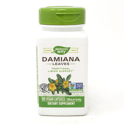 Damiana Leaves 400 mg by Nature's Way 100 Capsules