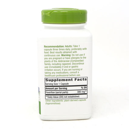 Feverfew Leaves 380 mg By Nature's Way - 180 Capsules