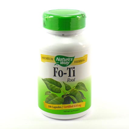 Fo-Ti Root 610 mg by Nature's Way 100 Capsules