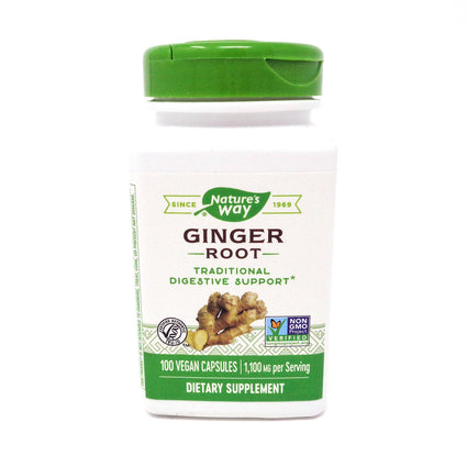 Ginger Root 550 mg by Nature's Way 100 Capsules