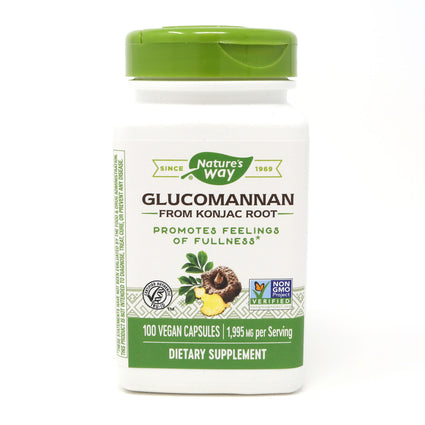 Glucomannan Root 665 mg by Nature's Way 100 Capsules