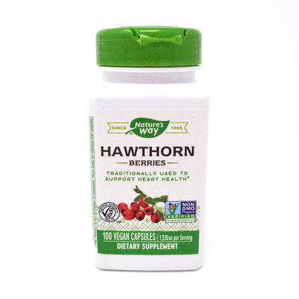 Hawthorn Berries 510 mg by Nature's Way 100 Capsules