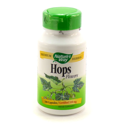 Hops Flowers 310 mg By Nature's Way - 100 Capsules