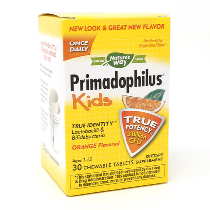 Primadophilus for Kids (Orange) by Nature's Way - 30 Chewable Tablets