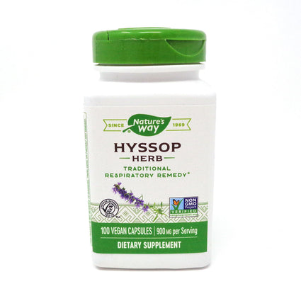 Hyssop Herb By Nature's Way - 100 Capsules