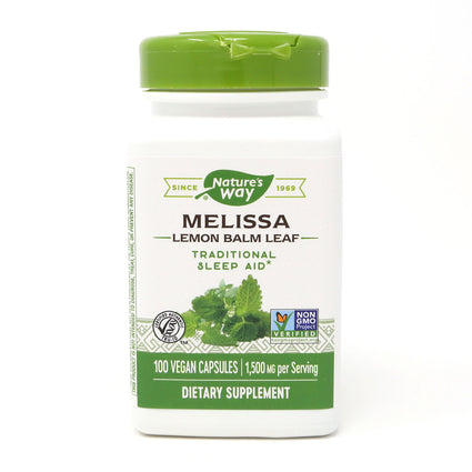 Melissa Lemon Balm Leaf By Nature's Way - 100 Capsules