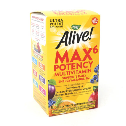Alive! (No Iron Added) by Nature's Way - 90 Vegetarian Capsules