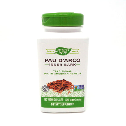 Pau d'Arco Inner Bark 545 mg by Nature's Way 180 Capsules