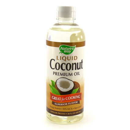 Liquid Coconut Oil By Nature's Way - 20 Ounces