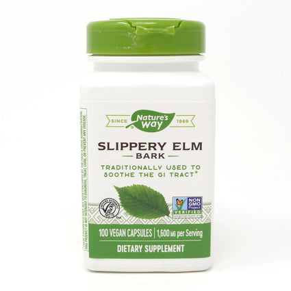 Slippery Elm Bark 370 mg by Nature's Way 100 Capsules
