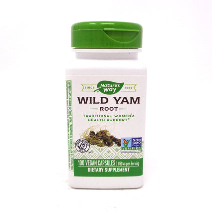 Wild Yam Root 425 mg by Nature's Way 100 Capsules