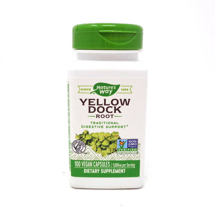 Yellow Dock Root 500 mg by Nature's Way 100 Capsules