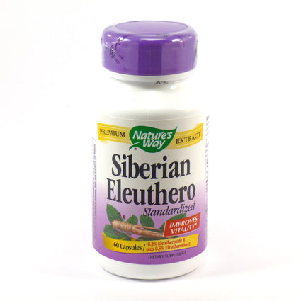 Eleuthero Siberian Ginseng by Nature's Way - 60 Capsules