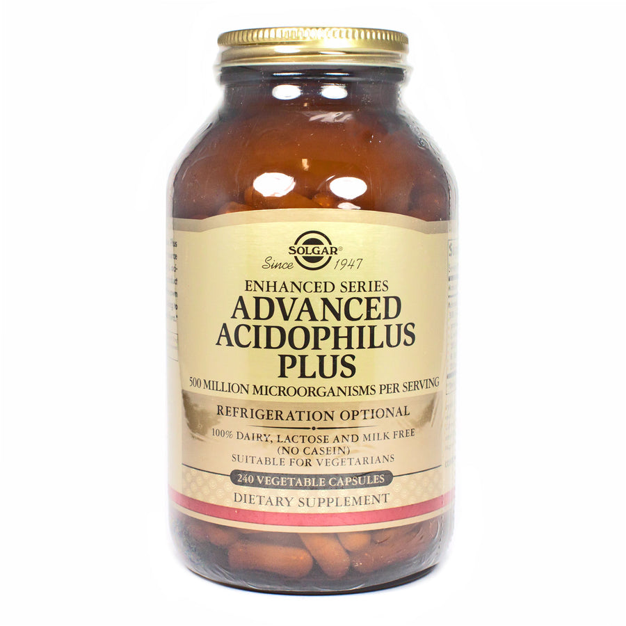 Solgar Advanced Acidophilus Plus Vegetable Capsules  - 240 Count