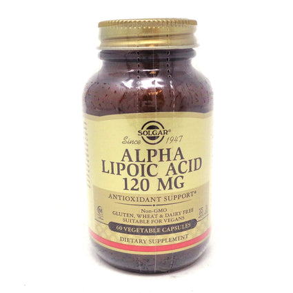 Alpha Lipoic Acid 120 mg Vegetable Capsules By Solgar - 60 Count