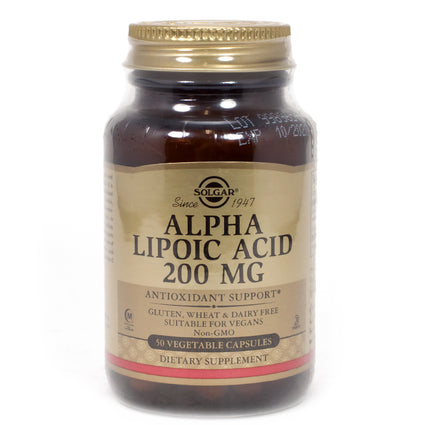Solgar Alpha Lipoic Acid 200 mg Vegetable Capsules   - 50 Count