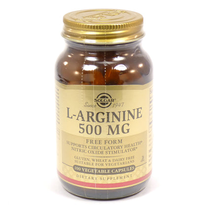 Solgar L-Arginine 500 mg Vegetable Capsules  - 100 Count