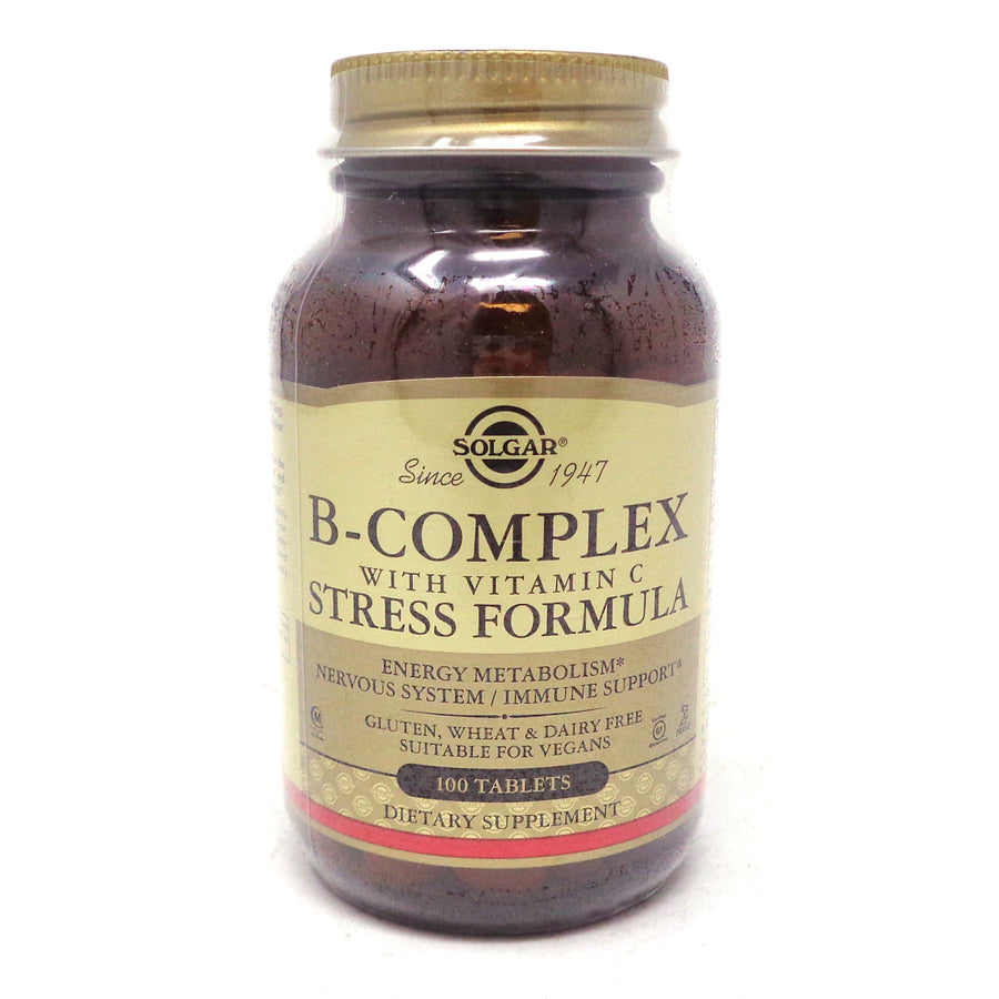 B-Complex with C Stress Formula Tablets By Solgar - 100 Count