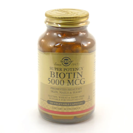 Solgar Biotin 5000 mcg  - 100 Vegetable Capsules