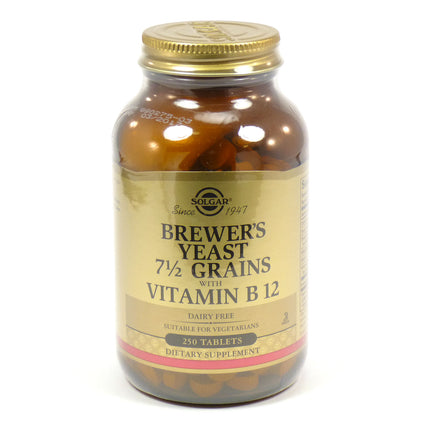 Solgar Brewer's Yeast 7 1/2 Grains with Vitamin B-12  - 250 Tablets