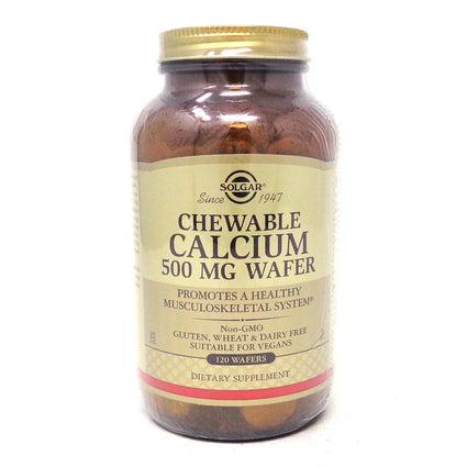 Chewable Calcium 500 mg by Solgar - 120 Chewable Wafers