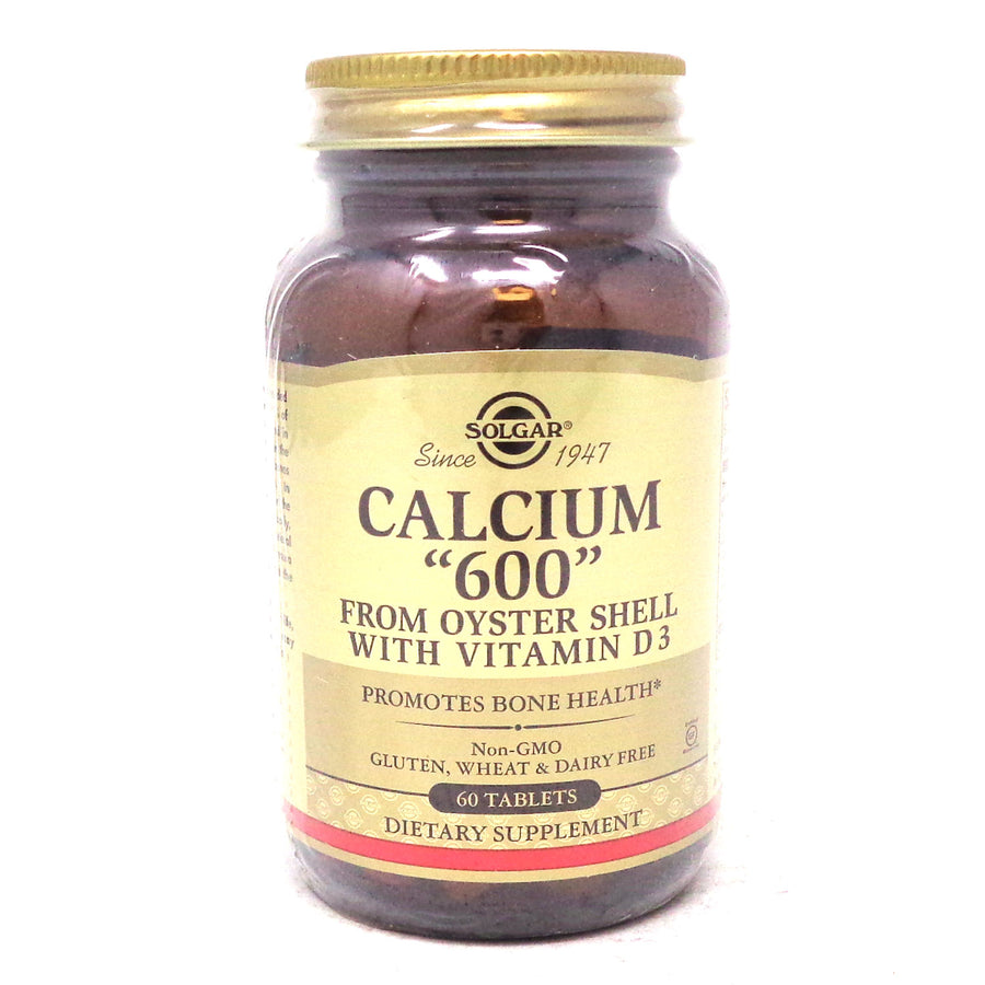 Calcium 600 Tablets (Oyster Shell Calcium) By Solgar - 60 Count