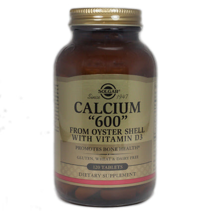 Solgar Calcium 600 Tablets (Oyster Shell Calcium)  - 120 Count