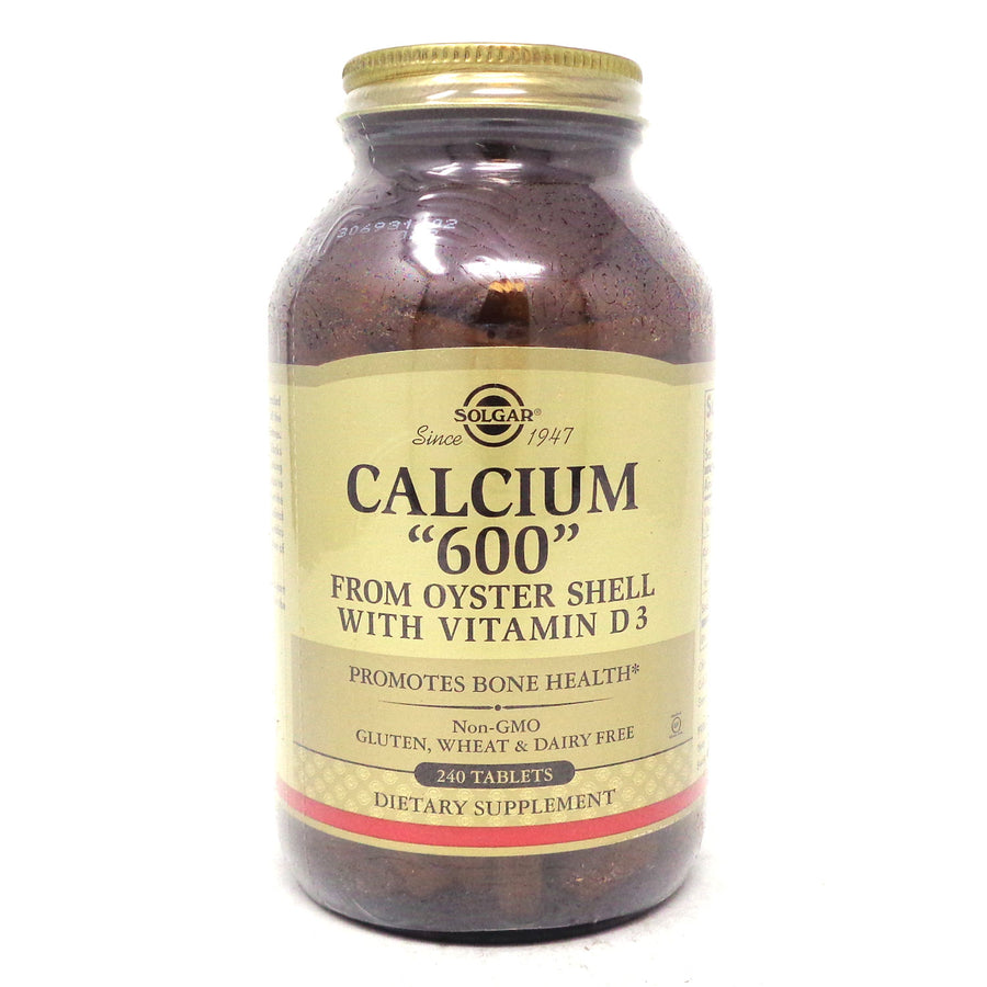 Calcium 600 Tablets (Oyster Shell Calcium) By Solgar - 240 Count