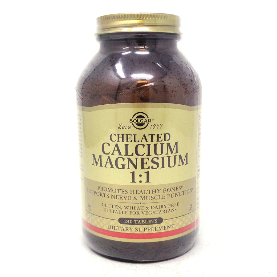 Chelated Calcium Magnesium 1:1 Tablets By Solgar - 240 Count