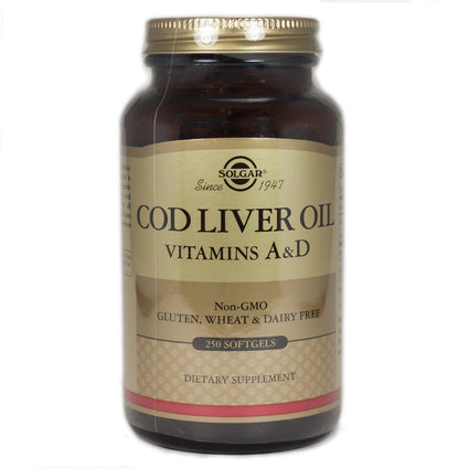 Solgar Norwegian Cod Liver Oil  - 250 Softgels