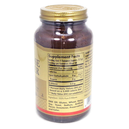 Solgar D Ribose Powder - 5.3 Ounces