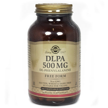 Solgar DLPA 500 mg Vegetable Capsules  - 100 Count