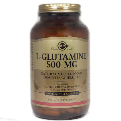 Solgar L-Glutamine 500 mg Vegetable Capsules  - 250 Count