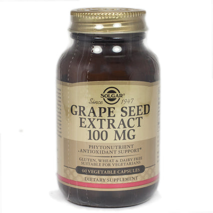 Solgar Grape Seed Extract 100 mg Vegetable Capsules  - 60 Count