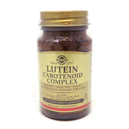 Lutein Carotenoid Complex Vegetable Capsules By Solgar - 30 Count