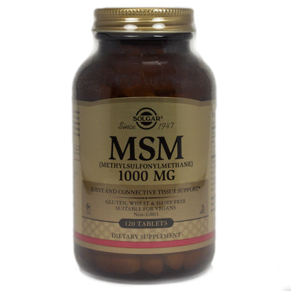 Solgar MSM 1000 mg Tablets   - 120 Count
