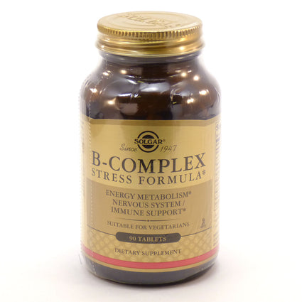 Solgar Natural B-Complex (Stress Formula)  - 90 Tablets